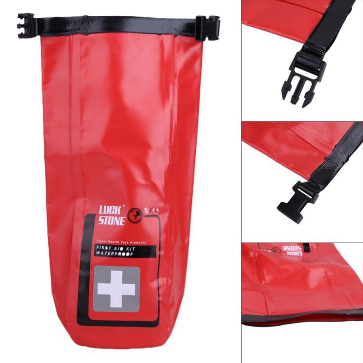 Czerwony Wodoodporna 2L Torba Pierwszej Pomocy Zestawy Pusty Podróży Kajakarstwo Dry Bag Rafting Camping Awaryjne Przenośne Torby Medyczne