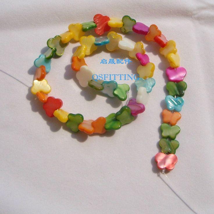 Продать 12*8 мм Стеклянные бусы, ювелирные аксессуары, ожерелье бусы, Форме Бабочки, Цвет Смешивания