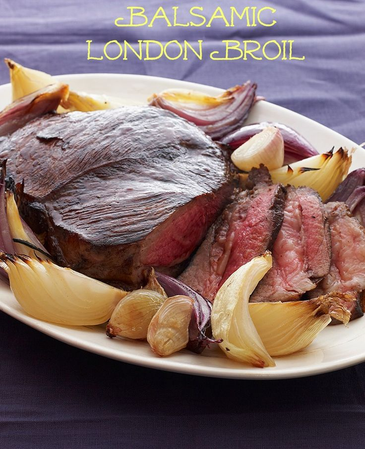 Balsamic London Broil with Roasted Onions: Roasted Onions, Cups Olives, Kosher Recipes, Olives Oil, Dinners, London Broil, Onions Recipes, Balsamic London, Recipes Meat