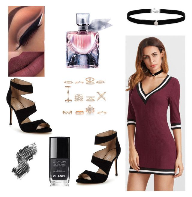 """LOVE !?"" by kamillyunicornio ❤ liked on Polyvore featuring Chanel, New Look, Carvela, Amanda Rose Collection, Lancôme and Illamasqua"