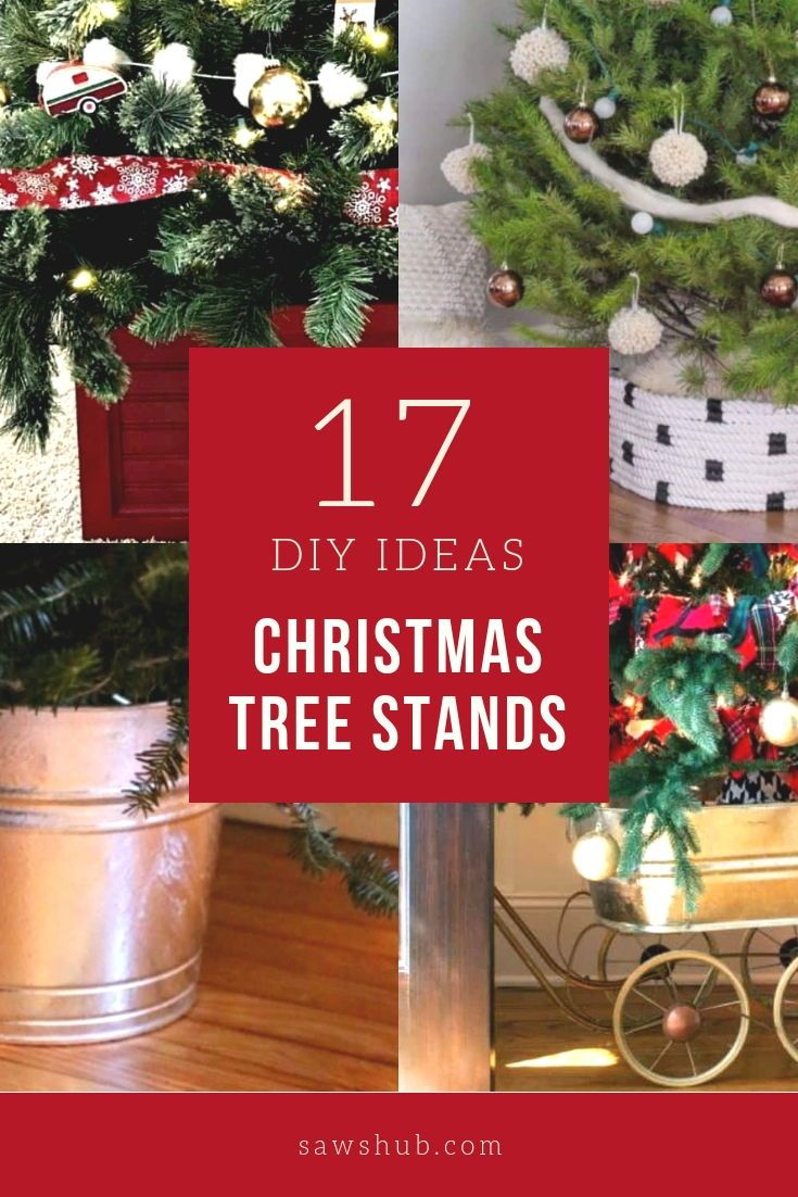 Here S How To Quickly Make Your Own Christmas Tree Stand Materials Required 7 Feet Of 2x4s Christmas Tree Stand Diy Diy Christmas Tree Small Christmas Trees