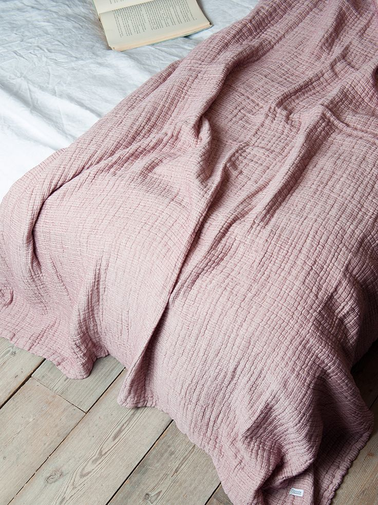 Cotton Textured Throw- Blush from Mitzi B Shop throw and matching cushions 40cm x 60cm.