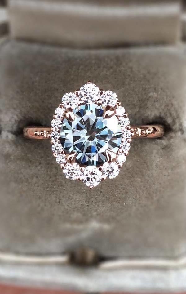 stunning diamond rose gold engagement ring for 2018