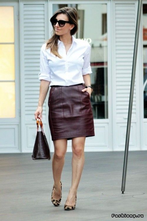 18 best Brown leather skirts images on Pinterest