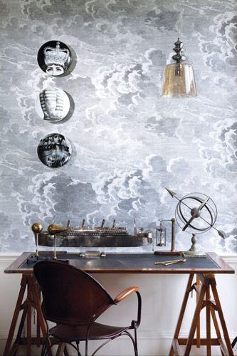 Fornasetti cloud wallpaper