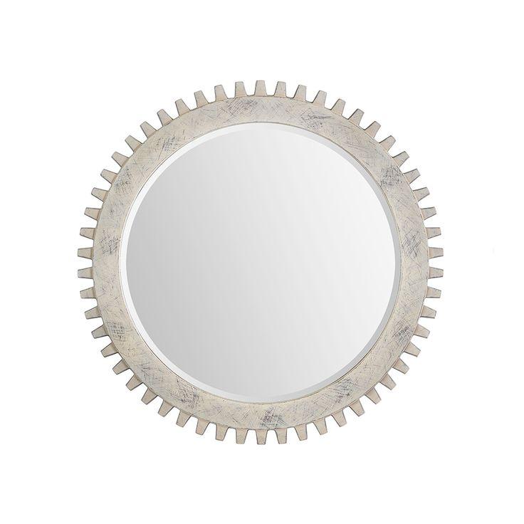 Descripci n madera en forma de engranaje pintada con - Espejos color plata ...
