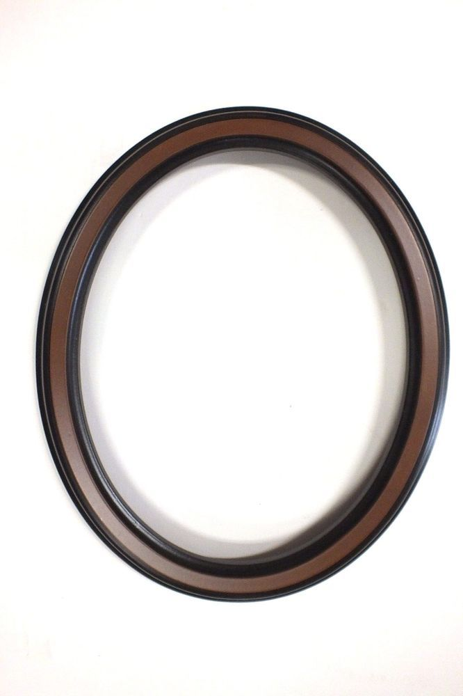 8 x 10 New Oval Picture Frame Dark Brown 2 Tone