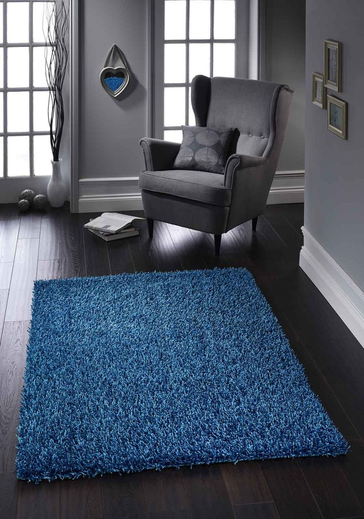 Hand tufted beautiful Lavanta Shaggy Rug for high levels of luxury and comfort. #bluerugs #shaggyrugs #polyesterrugs #shinyrugs #blueshinyrugs #modernrugs