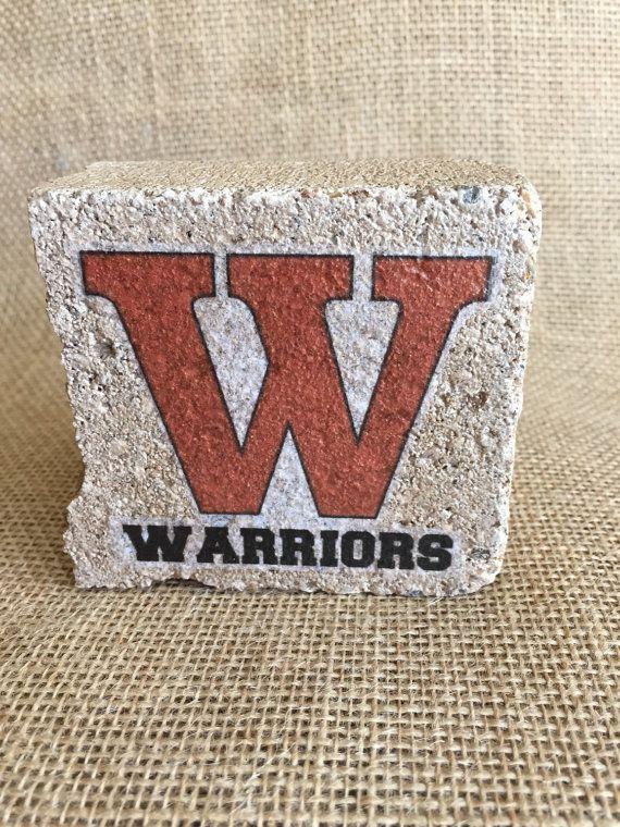 Westwood High School  Spirit Stone decor  by RoundRockCrafts