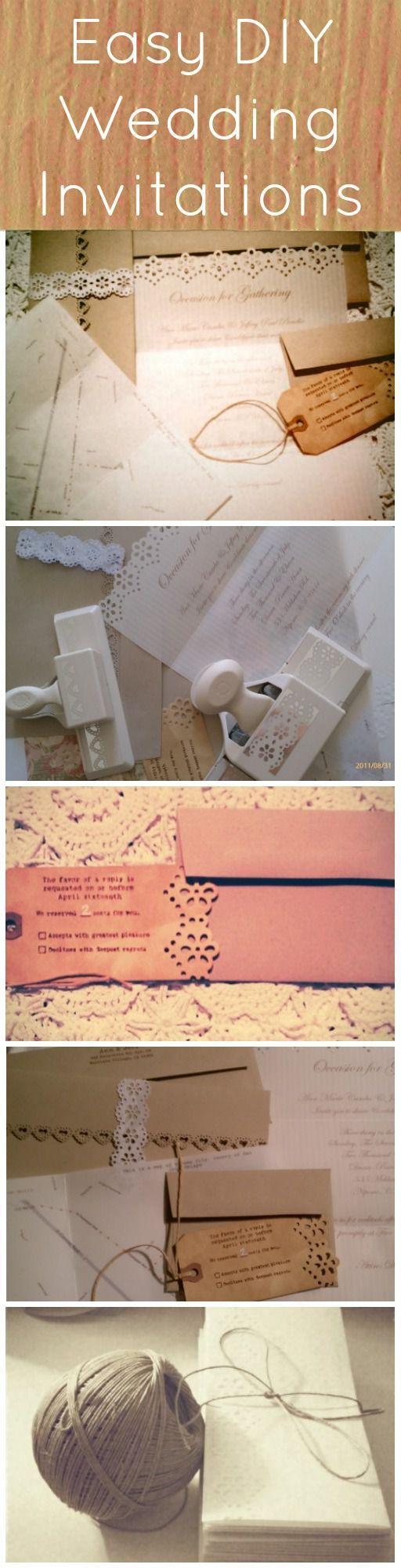 Easy DIY Wedding Invitation
