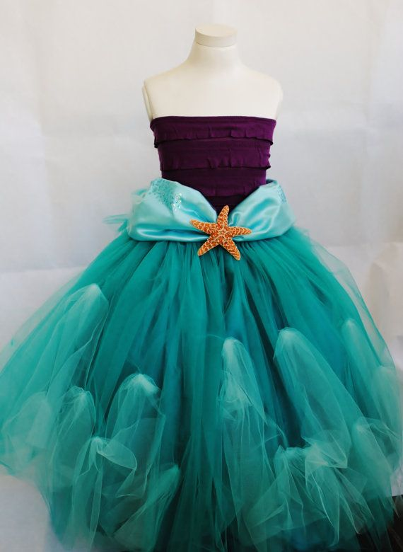 I want something like this to wear for disneyland halloween party! Little Mermaid Costume by VintageDivinitiess on Etsy, $100.00