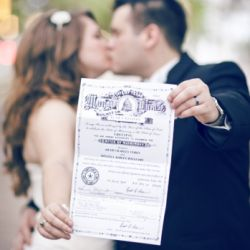 Better get a picture with our Marriage Certificate