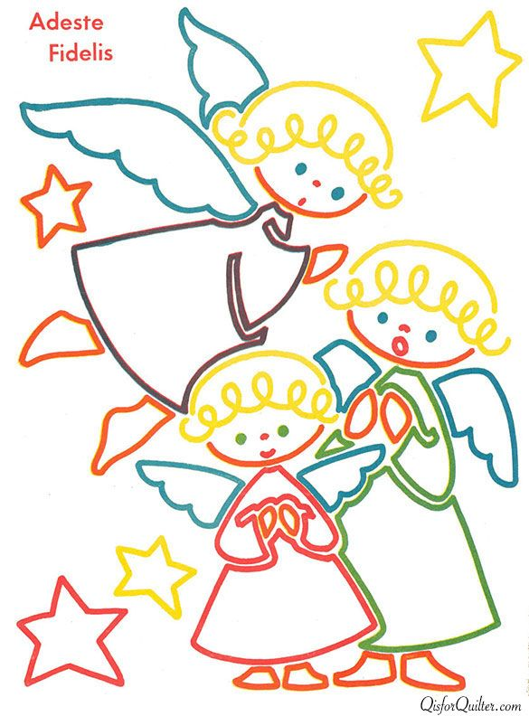 MANY coloring book pages  that would make a darling quilt  --  Santa's-Follow-the-Colors-2