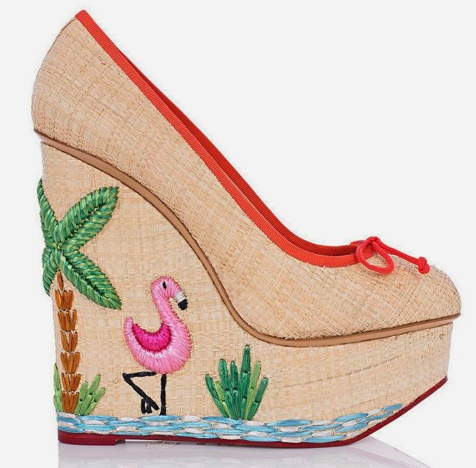 Flamingo wedges