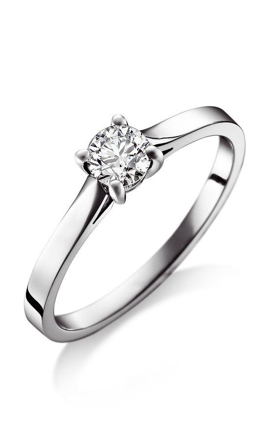 Shopping joyas solitario de platino con diamante. Piaget.