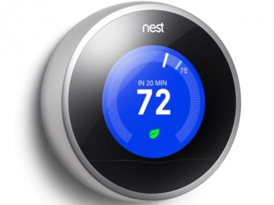 Nest is a smart thermostat developed in part by Tony Fadell, one of the geniuses behind the original iPod.     The Nest can learn your habits and adjust your home's temperature accordingly, saving you money in the process. You can also monitor your home's temperature from your computer or smartphone.