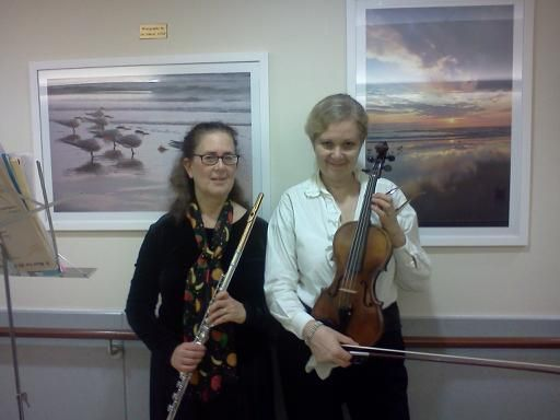Flute & Violin Duo at Mt Sinai Hospital performance 1 day after Thanksgiving for the palliative care cancer patients