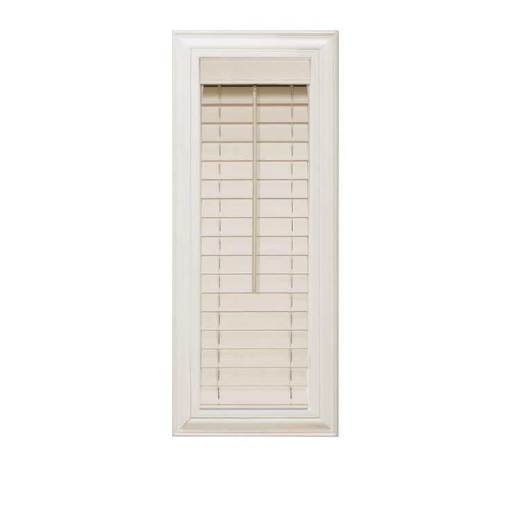 home decorators blinds. home decorators collection beige 2 in. faux wood blind - 12.5 w x 64 l (actual size 12 l) blinds