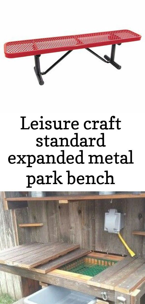 Leisure Craft Standard Expanded Metal Park Bench Bench Craft Expanded Gardenpotrecycled