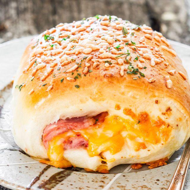 Taschen Schinken und Käse - hausgemachte, Schinken und Käse heiß Taschen