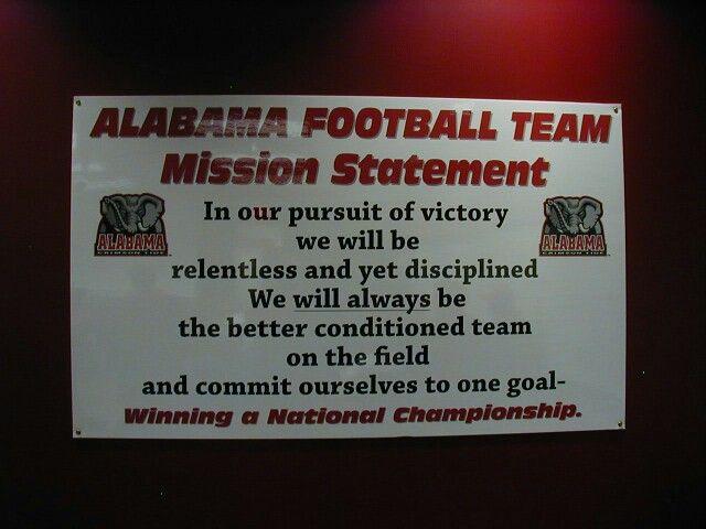 Alabama Football Team Mission Statement