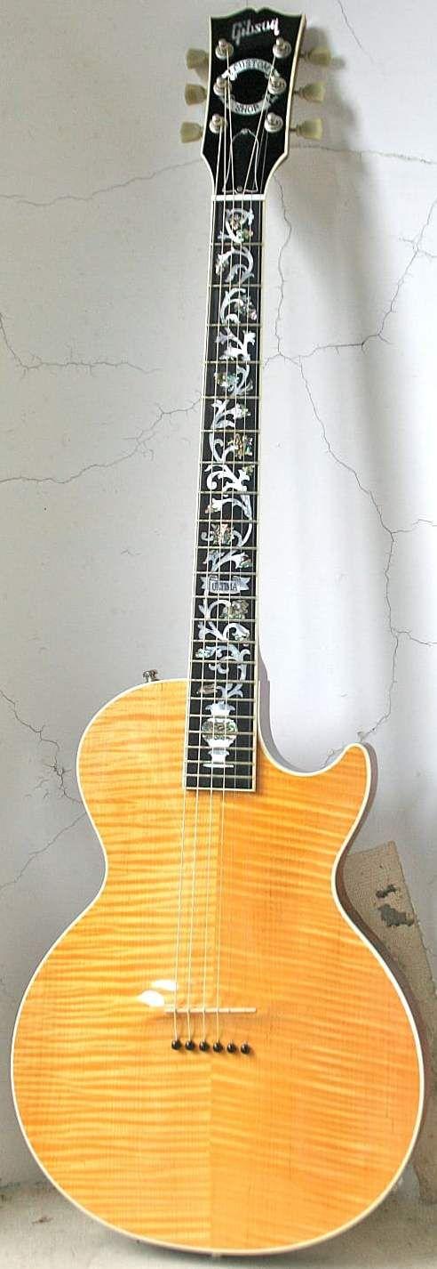 [ƒrettedchordophone 2016] 2002 Gibson CS Les Paul Acoustic --- https://www.pinterest.com/lardyfatboy/