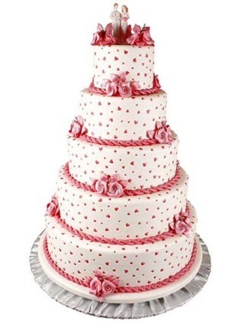 Beş katlı düğün pasta modeli - Kadın Moda