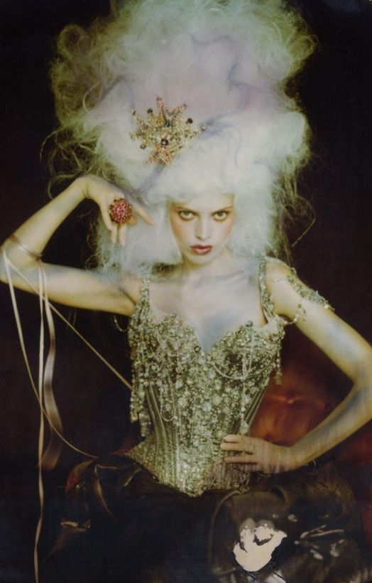 Christian Lacroix Haute Couture S/S 1996. Again Marie Antoinette influences modern-day styles.