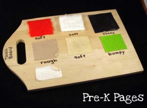 DIY Texture Board for your Science Center in Preschool and Kindergarten + Free Printable