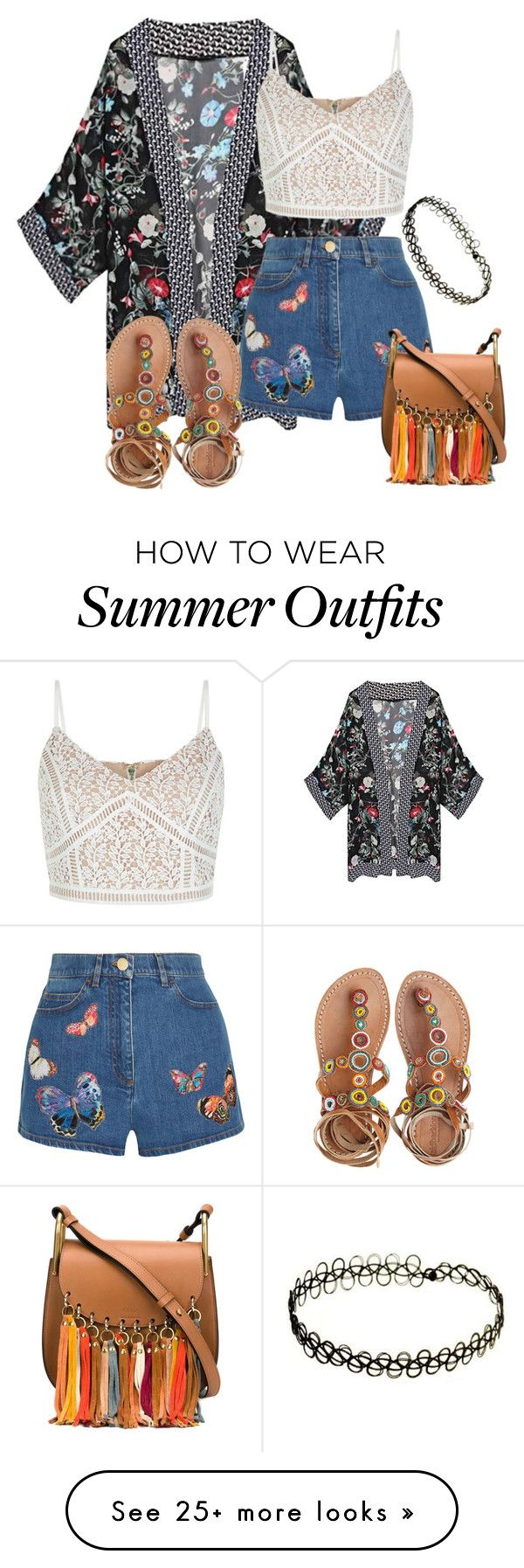 summer by ellenias on Polyvore featuring Valentino, New Look, Laidback London and Chloé