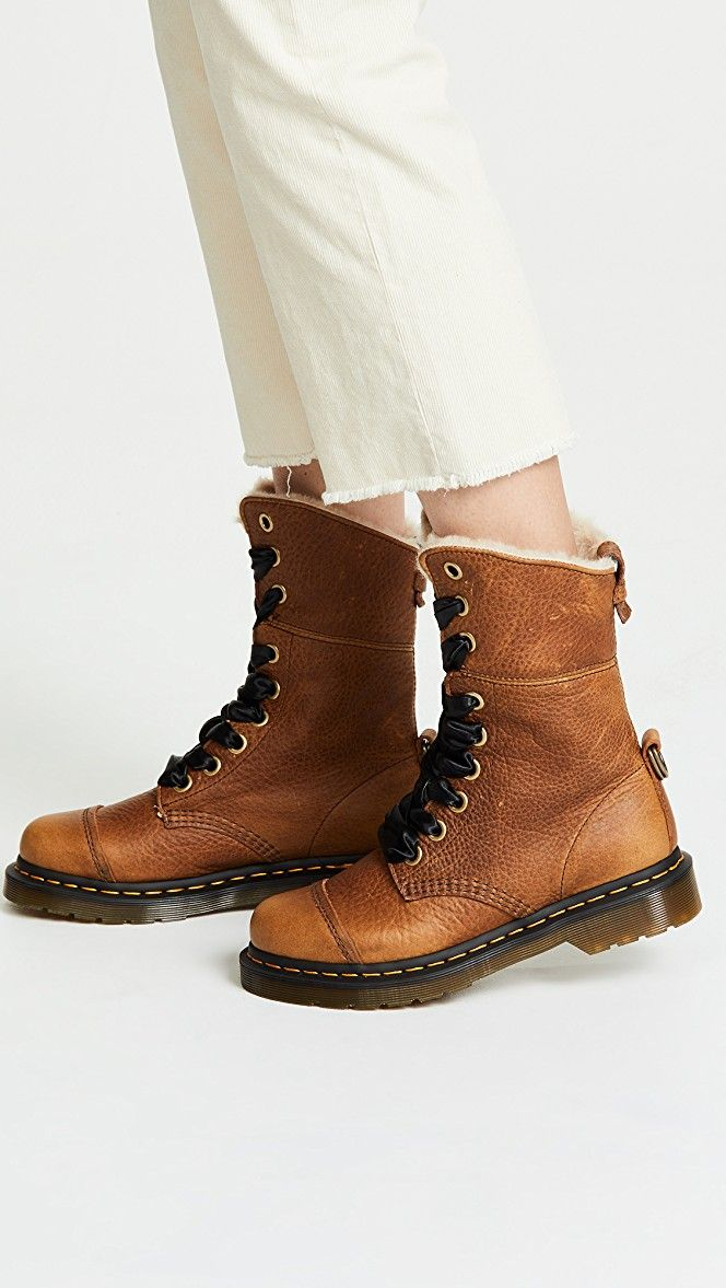 Aimilita FL 9 Eye Boots | Boots, Fall shoes, Doc martens style