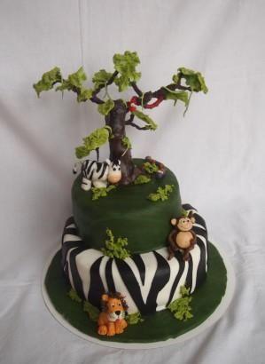 Super gave jungle taart