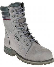 Caterpillar Women's Grey Echo Waterproof Work Boots - Steel Toe