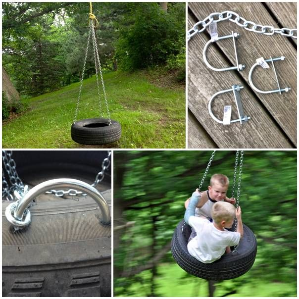 Diy old fashioned tire swing house stuff pinterest for Tyre swing ideas