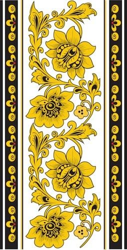 Folk Khokhloma painting from Russia. Floral pattern. #art #folk #painting…