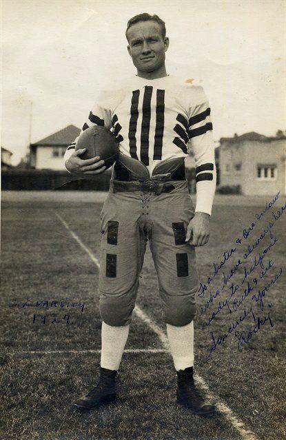 great-great uncle Rocky Kemp. USC quarterback in 1927