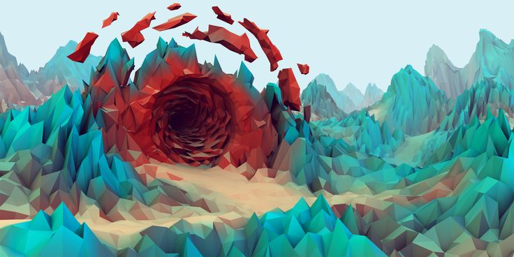 Crazy low poly art