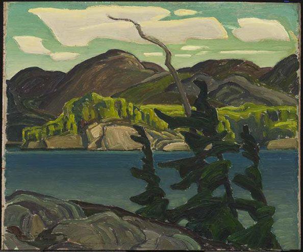 artgalleryofontario: Franklin Carmichaelborn Orillia, Ontario, 1890; died Toronto, Ontario, 1945 Cameron Lake, 1939 oil on wood, 25.4 x 30.4 cm The Thomson Collection © Art Gallery of Ontario