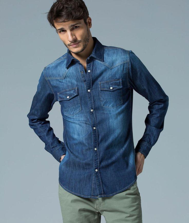 El básico de este otoño en tu armario debe de ser una camisa vaquera #moda #hombre #denim #camisa #otoño