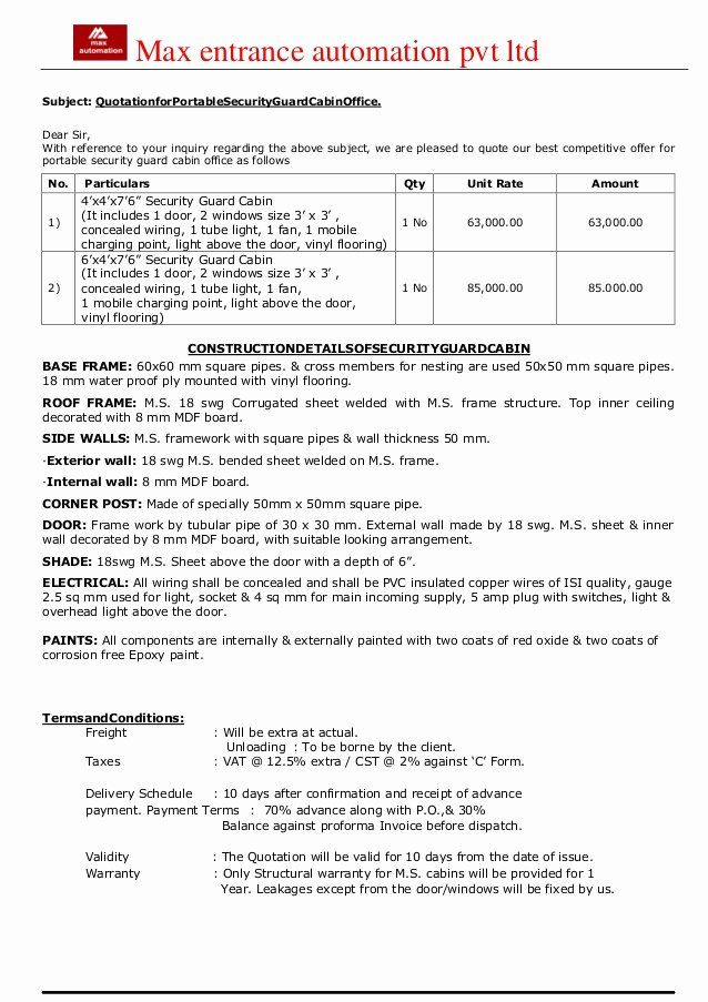 Alarm Monitoring Contract Template Lovely Security Guard Cabin Contract Template Treatment Plan Template Classroom Newsletter Template