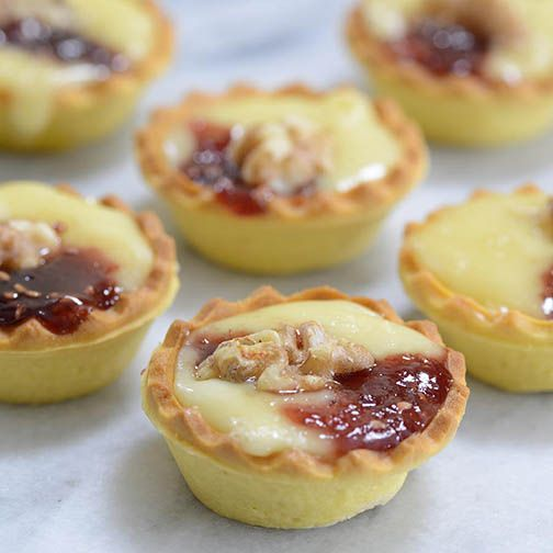 Camembert and Raspberry Jam Mini Tarts Recipe