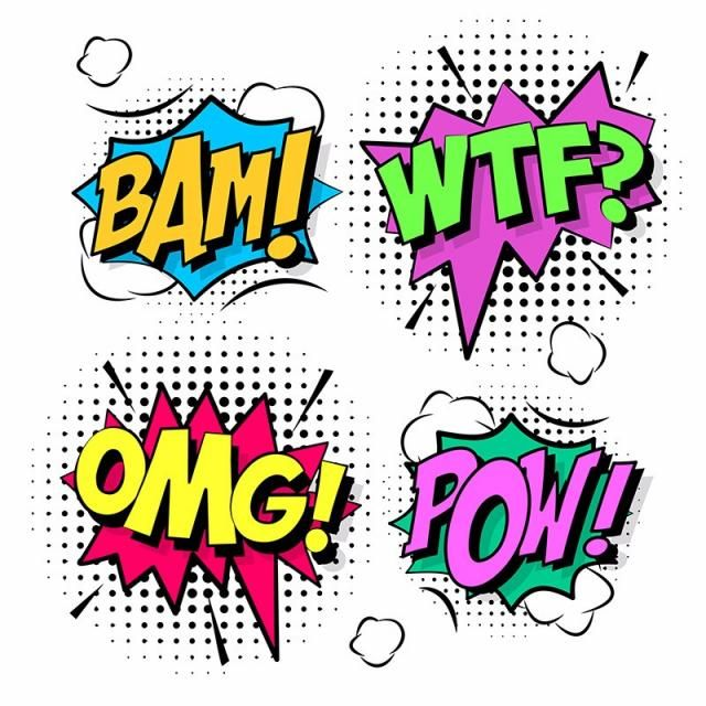 Comic Design Elements Cartoon Comic Shapes Png And Vector With Transparent Background For Free Download Comic Sound Effects Comic Book Art Style Book Design