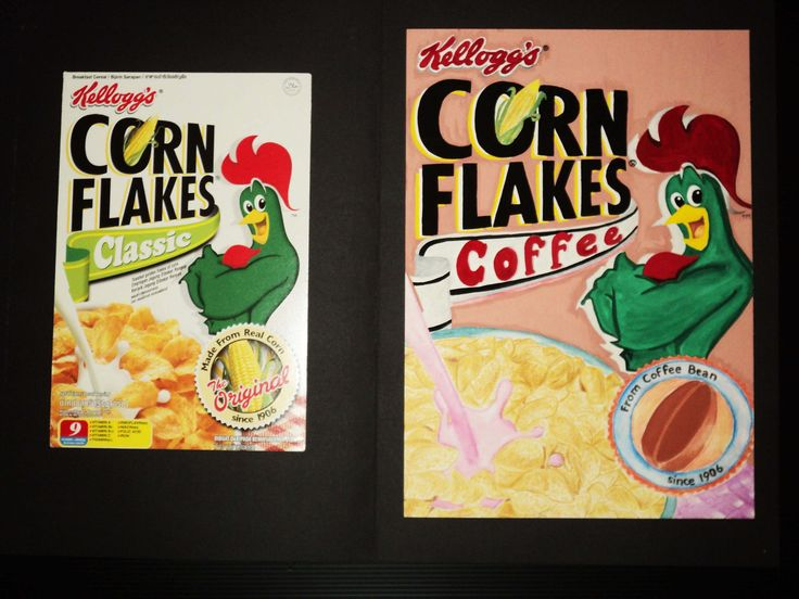 This is recoloring from cereal packaging. Media: Water Color, Poster color and Media Paper. Change flavor from original (corn) to Coffee.