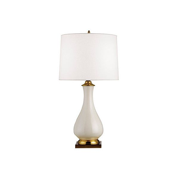 Lynton Table Lamp With Off White Linen Shade ($100) ❤ liked on Polyvore featuring home, lighting, table lamps, cream lamp, cream table lamps, alabaster table lamp, beige lamp and soft white lights