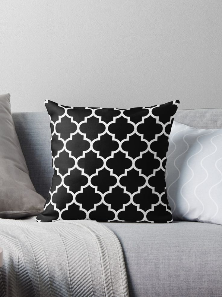 White Quatrefoil Pattern on a black background. • Also buy this artwork on home decor, apparel, phone cases, and more.