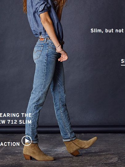 Levi's 712 Slim Jeans in [Sunset In July Patch?] $88