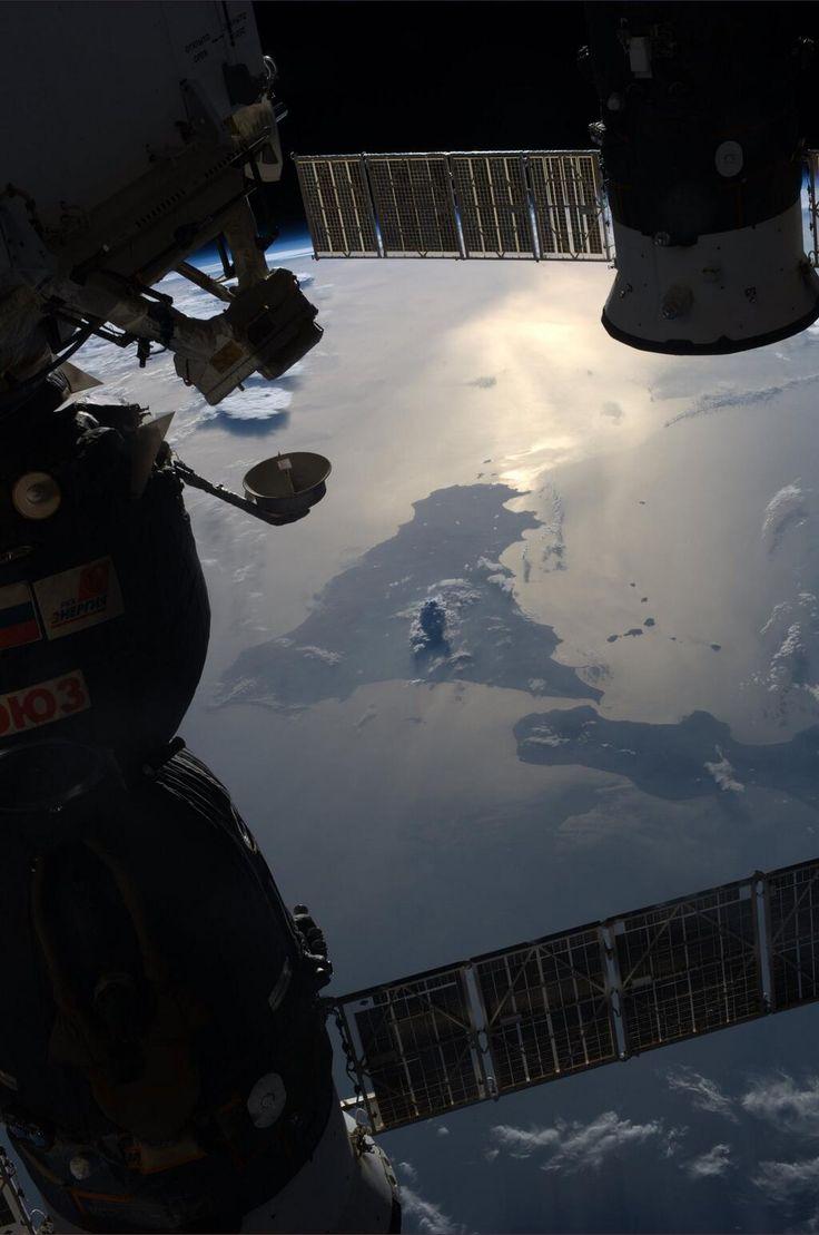 Tramonto sul Mediterraneo dalla ISS