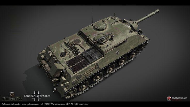ArtStation - KanonenJagdPanzer. German Tank Destroyer (TIER VIII), Aleksander Galevskyi