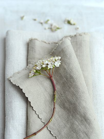 """Chunky Stonewashed Linen """"Mouse"""" by Peony & Sage.  This fabric will be used to cover the big armchair and some gorgeous squishy cushions in coordinating fabrics."""