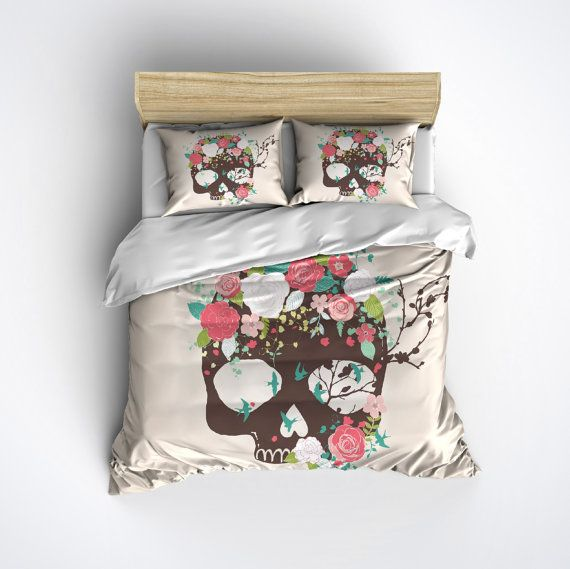 Hey, I found this really awesome Etsy listing at https://www.etsy.com/listing/240426854/fleece-sugar-skull-bedding-skull-and
